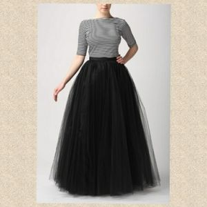 Elegant evening maxi skirt cocktail tulle prom